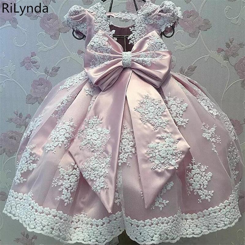 d6023b2fdf5 Кружево с аппликацией и бисером для девочек в цветочек платья Детские  вечерние платья для свадьбы платье