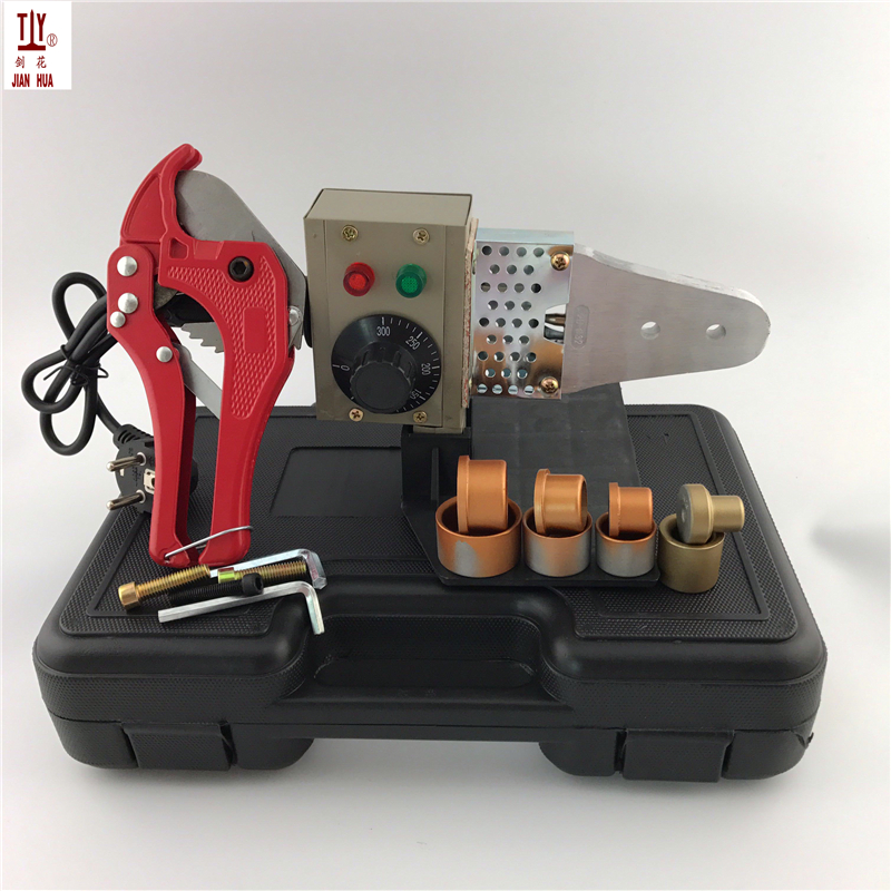 4 Sets Molds + 42mm Pipe Cutter 16-32mm Plastic Tube Pipe Welding 220V 600W Hot Melt Machine P-PR Pipe Welding Machines new 3kw hydraulic crimping hose pipe press machine 8 sets molds 6 41mm 380v 220v optional hose pipe press shrink tube machine