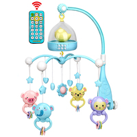 Bed Bell Night Lights Newborn Musical Playing Mobile Ring Hanging ABS Non toxic Baby Rattles Crib Educational Toy Set Funny