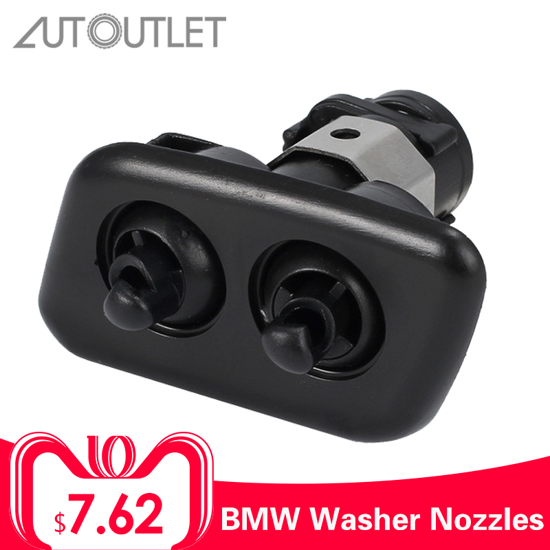 AUTOUTLET 61678360661 Left Headlight Washer Nozzles For BMW E39 525i 2001-2003 E39 528i 1997-2000 E39 540i 1997-2003 61678360661