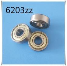 6203ZZ 1Piece bearing metal sealing bearings Free shipping 6203 6203Z 6203ZZ 17*40*12 mm chrome steel deep groove bearing
