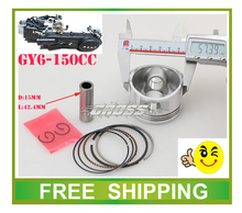 57 4mm piston ring pin set fit gy6 150cc scooter go kart buggy accessories free shipping