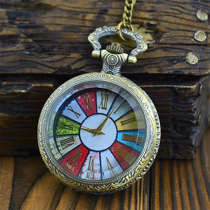 Children's Pocket Watches Quartz Pocket & Fob Watches for Kids Lovely Colorful Christmas Gift/Children's day Gifts/New Year Gift