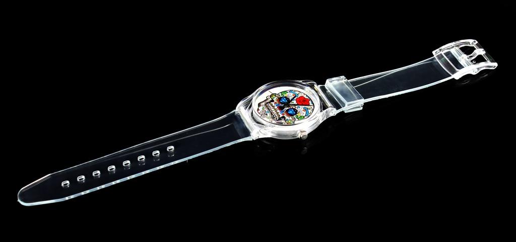 Rose bloem schedel hart kwaad duivel skeleton quartz horloge mode - Dameshorloges - Foto 4