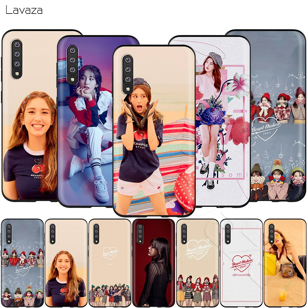 Lavaza <font><b>Korean</b></font> SOMI Heart Shaker <font><b>Case</b></font> for <font><b>Samsung</b></font> <font><b>Galaxy</b></font> S6 <font><b>S7</b></font> <font><b>Edge</b></font> J6 S8 S9 S10 Plus A3 A5 A6 A7 A8 A9 Note 8 9 image