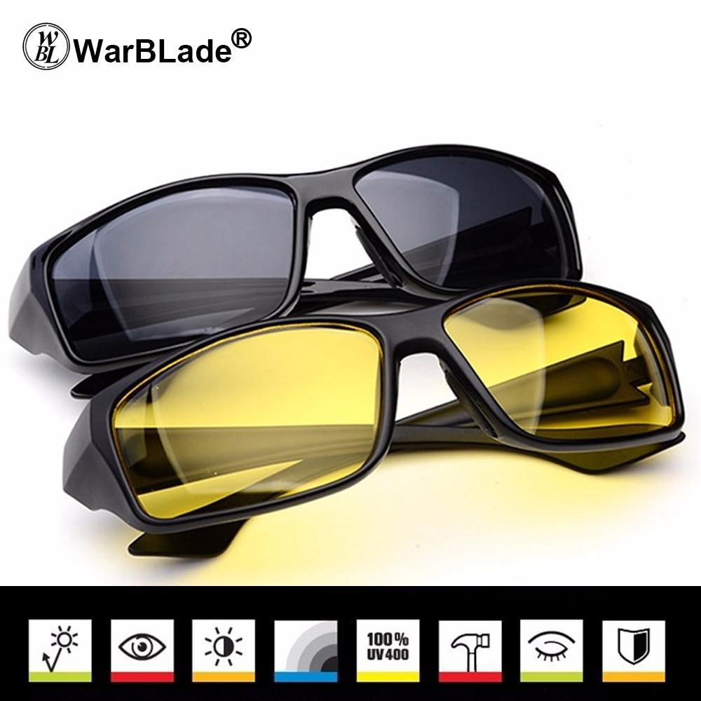 WarBLade Nova Marca Esporte Óculos de Visão Noturna Óculos de Condução  Óculos De Sol De Policarbonato Quadro Anti Glare UV400 Para Homens cf26cfa7b5