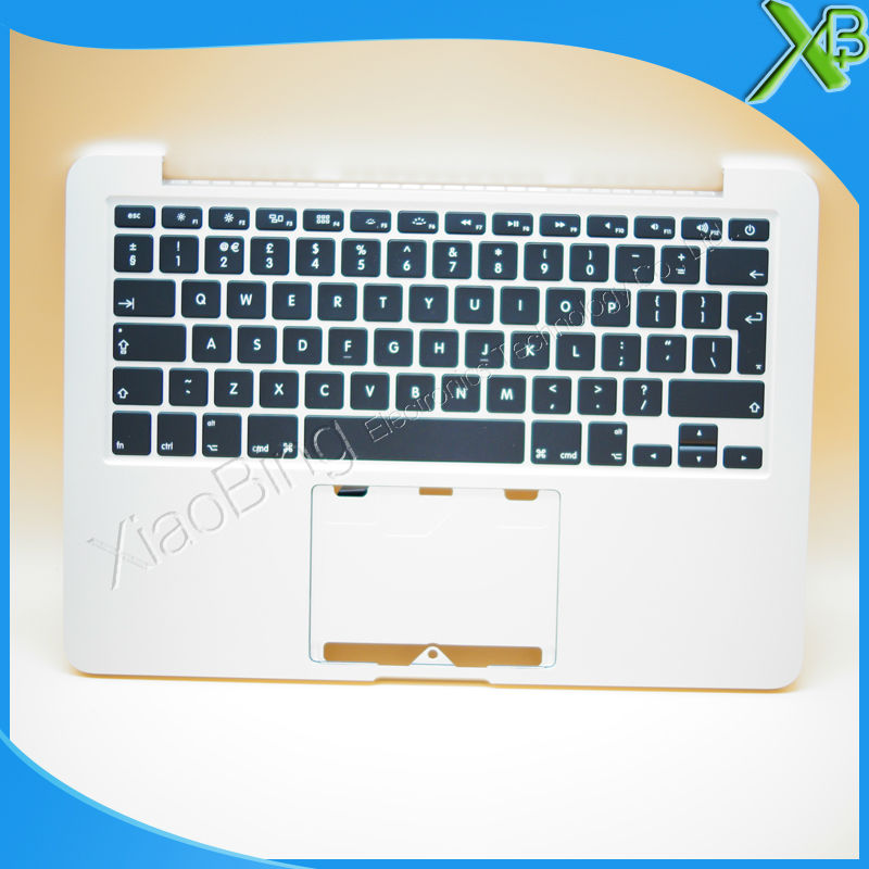 New TopCase with UK Keyboard for MacBook Pro Retina 13.3 A1502 2013-2014 years original new a1502 top case with keyboard uk version for macbook pro retina 13 2013 2014