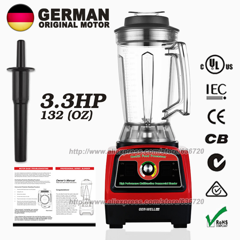 100 GERMAN Motor Technology Commercial 3 9L 121 ounce Food heavy duty Blender