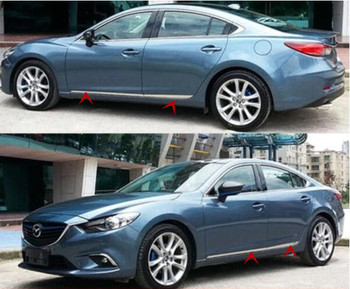 ABS CHROME CAR SIDE DOOR BODY PROTECTOR MOLDING COVER TRIM 4pcs/Set FOR  Mazda 6 ATENZA  2014 2015 2016 2017 2018 2019
