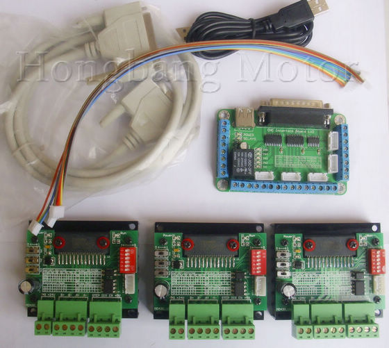 CNC 3 Axis TB6560  Stepper Motor Driver Controller Board Kit,for nema23 two-phase,3A stepper motor free shipping cnc router 3 axis kit tb6560 3 axis stepper motor driver controller board for nema23 two phase 3a stepper motor