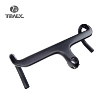 Balck No Logo Full Carbon Handlebar  Bicycle handlebar Road Integrated Bike Stem Cycling Bent Bar 3K Matte /Gloss