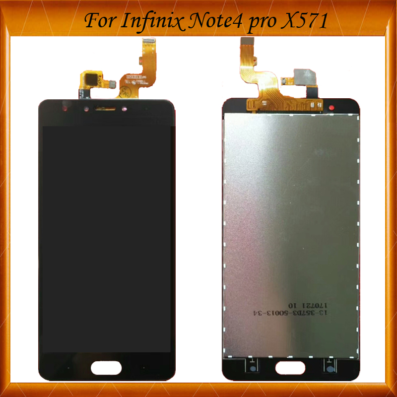 Black White Color For Infinix Note 4 pro X571 LCD With Touch Screen Digitizer Full Assembly LCD For Infinix X571 Screen