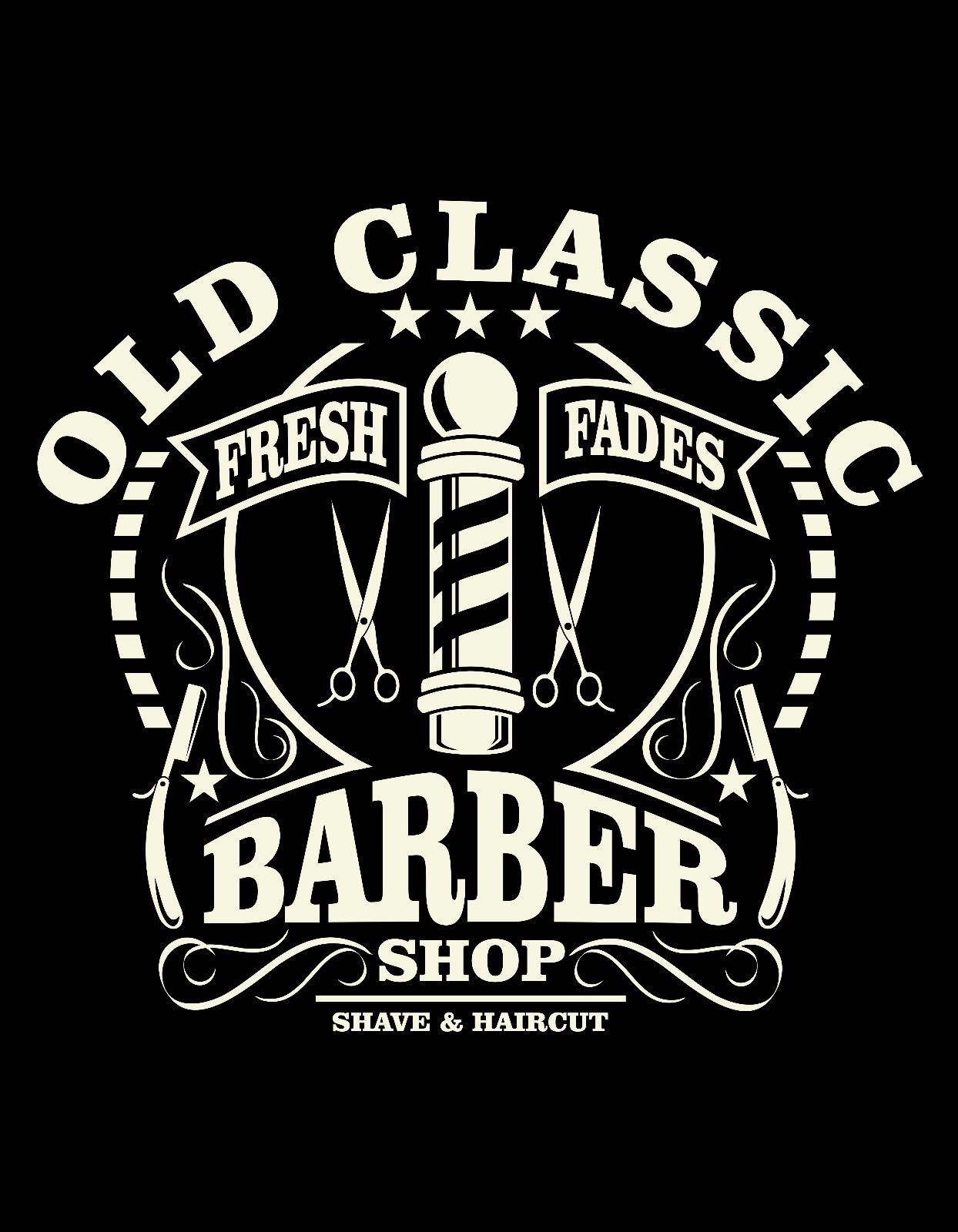 2018 Fashion Hot Sale Old Classic Barber Shop Beard Haircut Shirt