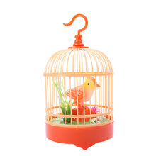 MrY Toy for Children Electronic Pets Simulation Bird Singing Chirping In Cage Kids Voice Control Pet
