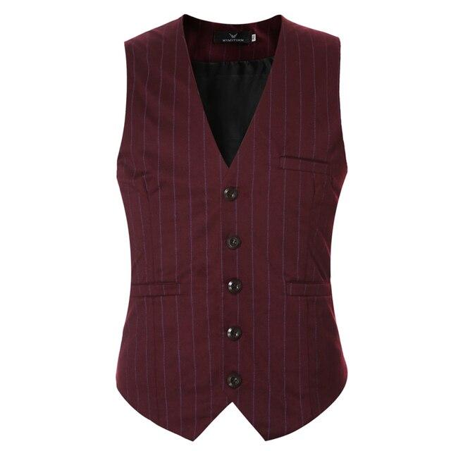 2016 известный бренд полосатый жилет мужчин хорошее качество slim fit платье жилеты для мужчин случайные рукавов chaleco hombre