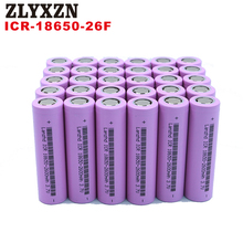 8-40PCS 18650 Battery for samsung 3.7v Rechargeable batteries 2600maH Li ion ICR18650 26F flashlight