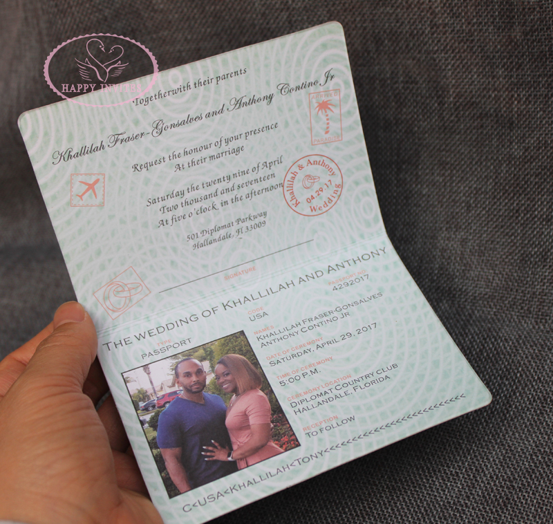 Us 360 0 Wedding Passport Free Shipping Hi1132 Unique Invitation Card Sytle In Cards Invitations