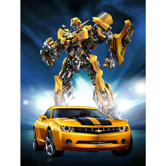 Diamond Painting Full Square 5d Diy Transformers Bumblebee Car