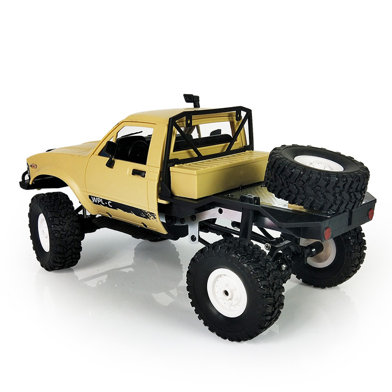 Remote Control Military Car Rock Crawler Truck Charging Climb C14 1/16 Scale 2.4G 4WD Model Toy As Children Gifts