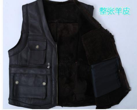 2016 autumn and winter fur vest In men's warm vest The whole sheep
