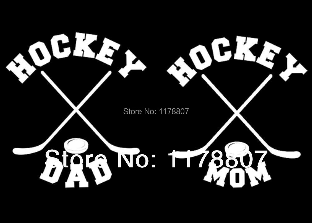 custom vinyl hockey mom or hockey dad car window decal sticker