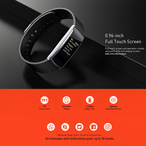 Image 2 - Letine Smart Bracelet Heart Rate Monitor Touch Color Screen Sports Fitness Tracker I6 PRO C Smart band IP67 2019 Wristband