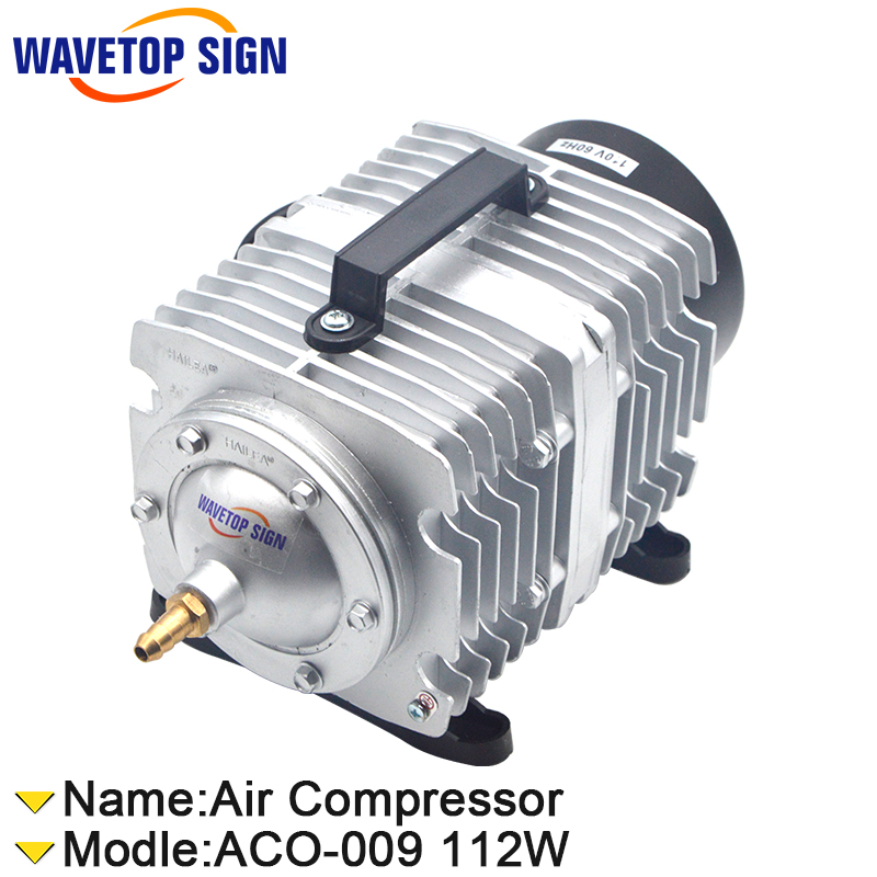 112W  Air Compressor Electrical Magnetic Air Pump for CO2 Laser Engraving Cutting Machine ACO- 009