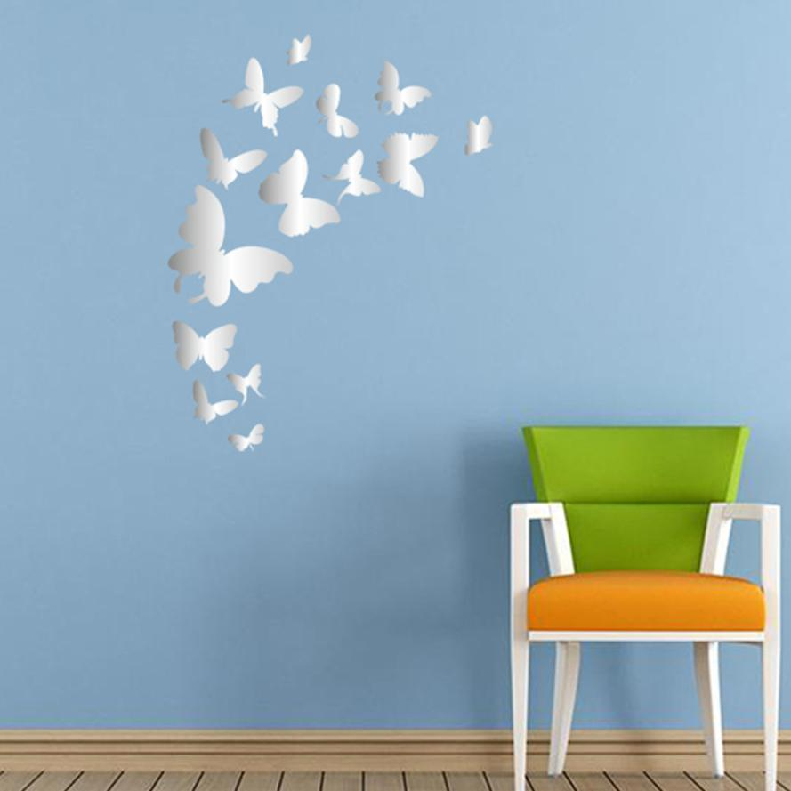 Neue 3D wandaufkleber spiegel schmetterling wohnkultur dekorative ...