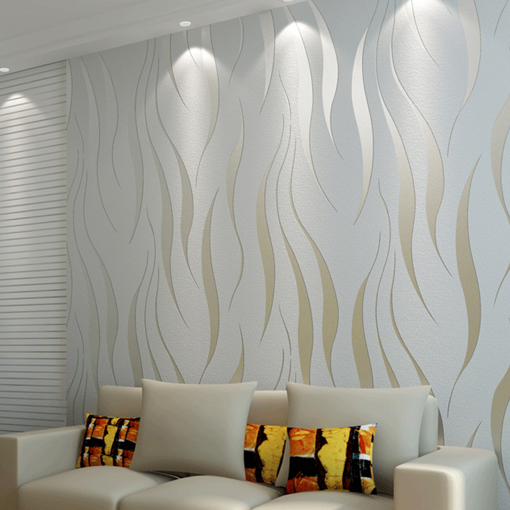 Exceptional Graue Gestreifte Tapete Silber Vertikale Gestreifte Wandpapierrolle Für  Wände, Streifen Tapeten Vlies Papel De Parede