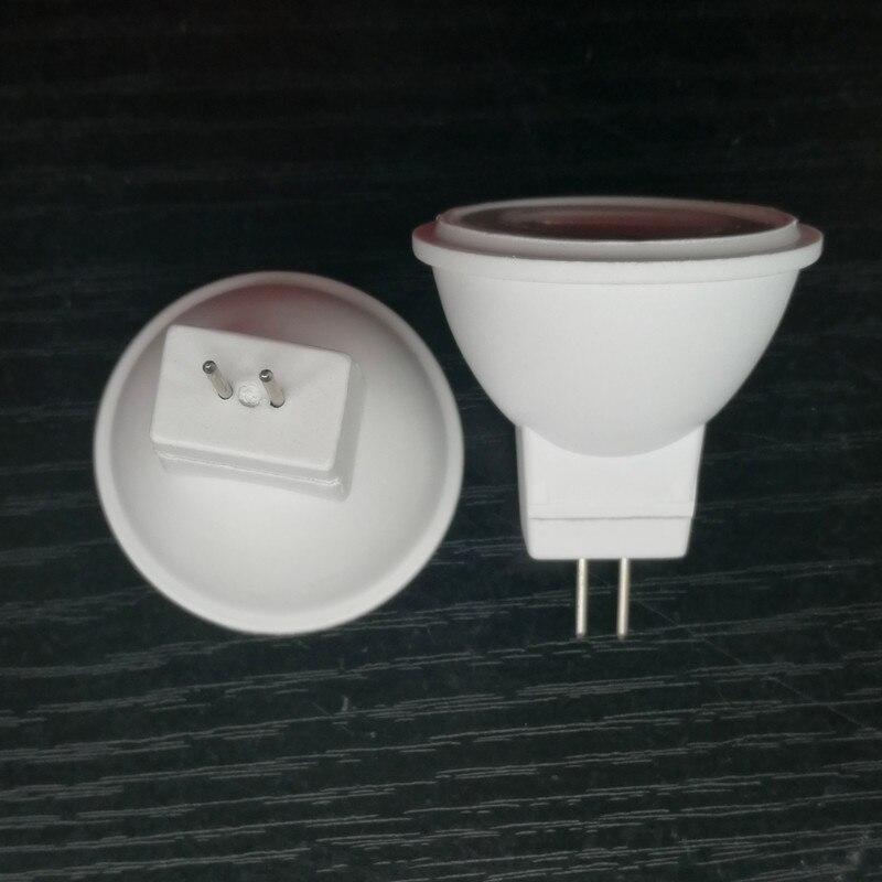 35mm mini led mr11 gu4 240lm 3 w ac/dc12v ra80 2835smd branco quente conduziu a luz de poupança de energia do copo de alumínio plástico 24 v dc