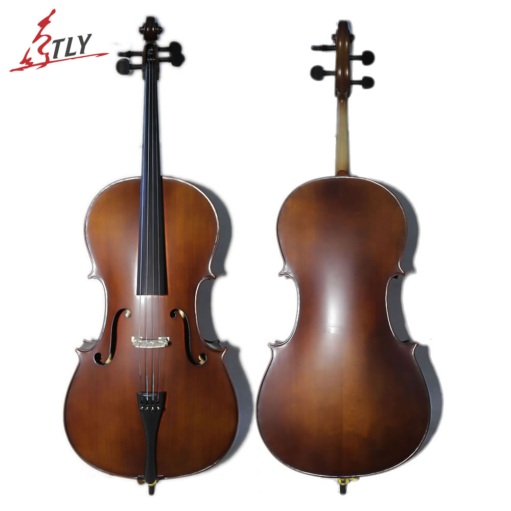 TONGLING High Quality 4/4 3/4 Antique Matte Cello Natural Flamed Maple Violoncello Acoustic Musical Instrument tongling full size oil finished professional cello 4 4 3 4 1 2 1 4 antique natural flamed violoncello ebony fitted