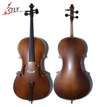 TONGLING High Quality 4/4 3/4 Antique Matte Cello Natural Flamed Maple Violoncello Acoustic Musical Instrument