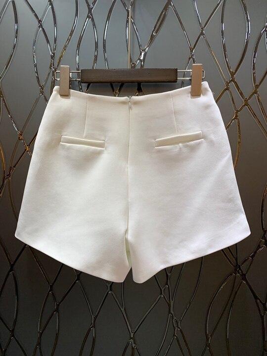 Nouvelles Splice Pantalon Femmes Lourde 2019 Pure Noir Et Au Américain Court Européen blanc Du Printemps Couleur 1227 Début Occasionnel L'industrie De Chaîne Décoration qT0nq8wO