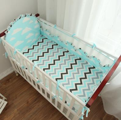 Aliexpress.com : Buy 5Pcs/ Sets Baby Bedding Set Beautiful Comfortable Baby  Bumper Bed Around Cotton Print Lace Mesh Cot Bumper Bed Sheet Bedding From  ...