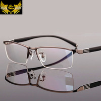 2016 New Arrival Men Style Titanium Alloy Half Rim Eye Glasses Fashion Men S Eyeglasses Classic
