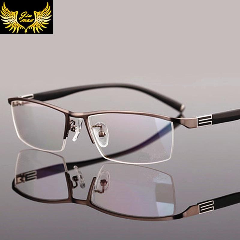 2016 New Arrival Men Style Titanium Alloy Half Rim Eye Glasses Fashion Men 39 S Eyeglasses Classic
