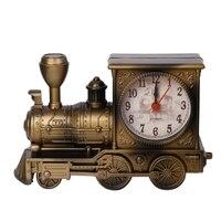 Family Clocks Desk Decoration Mechanical Alarm Clock Creative Classic Train Digital Bedroom For Kids New Years