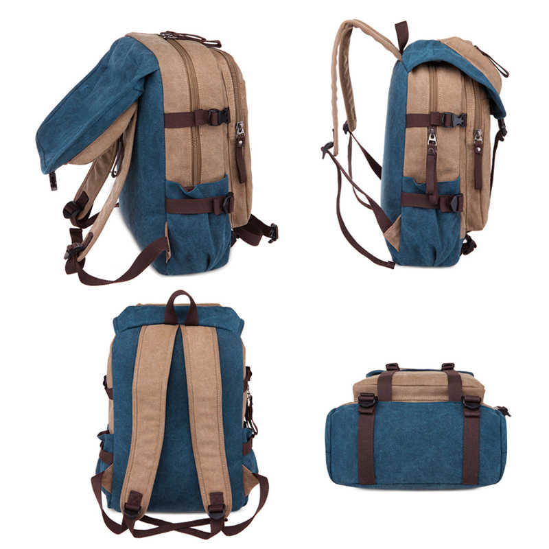 ... England Style Travel Canvas Backpack Male 2018 Vintage Canvas Backpacks  for Men School Bags Luggage Man ... 0c75619d80da7