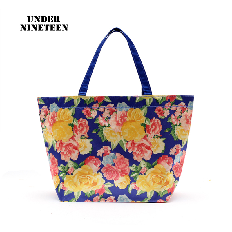 Under Nineteen Storage Handbags Foldable Shopping Bags Reusable Large Supermarket Bag Shoulder Bag Women Handbag Free Shipping