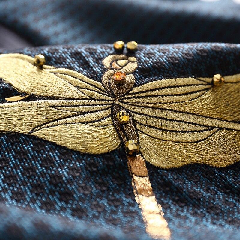 2019 Femmes Manches Nouveau Oversize Bleu Manteau Perles Broderie Veste Matelassée Kimono e2 Vestes Manteaux Chauve souris Formelle qt8wWrBt