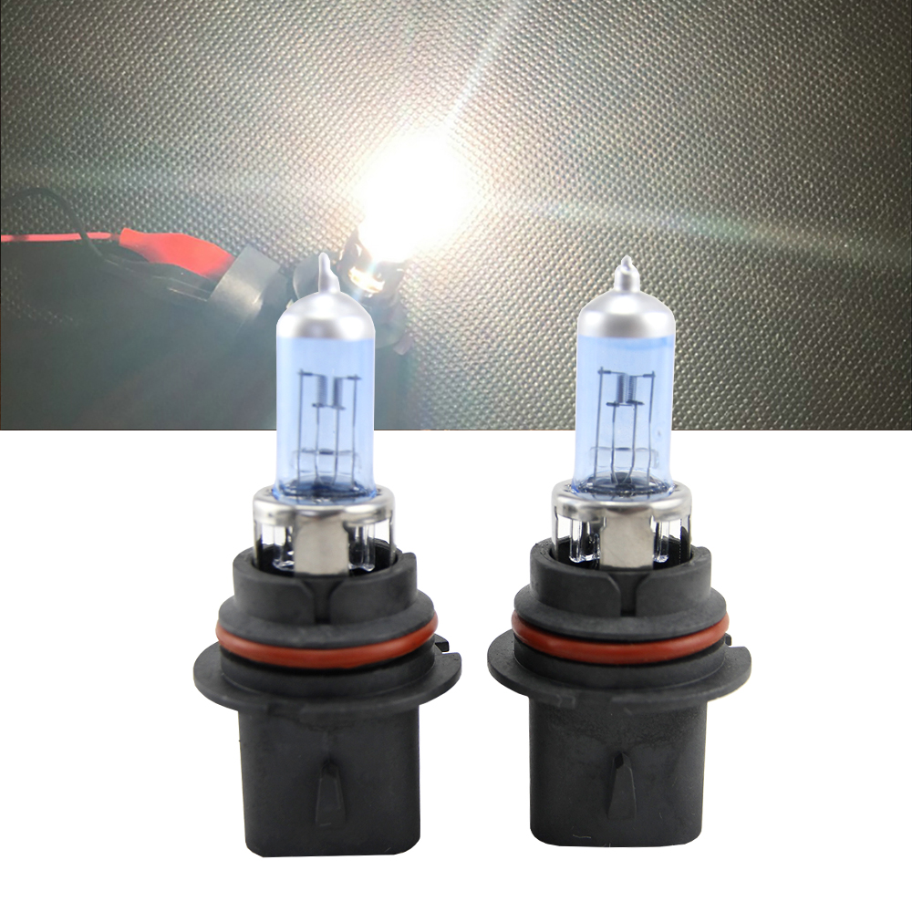 2pcs/lot 9007 HB5 6500K Super White Halogen Headlight Bulb 80/100W 12V