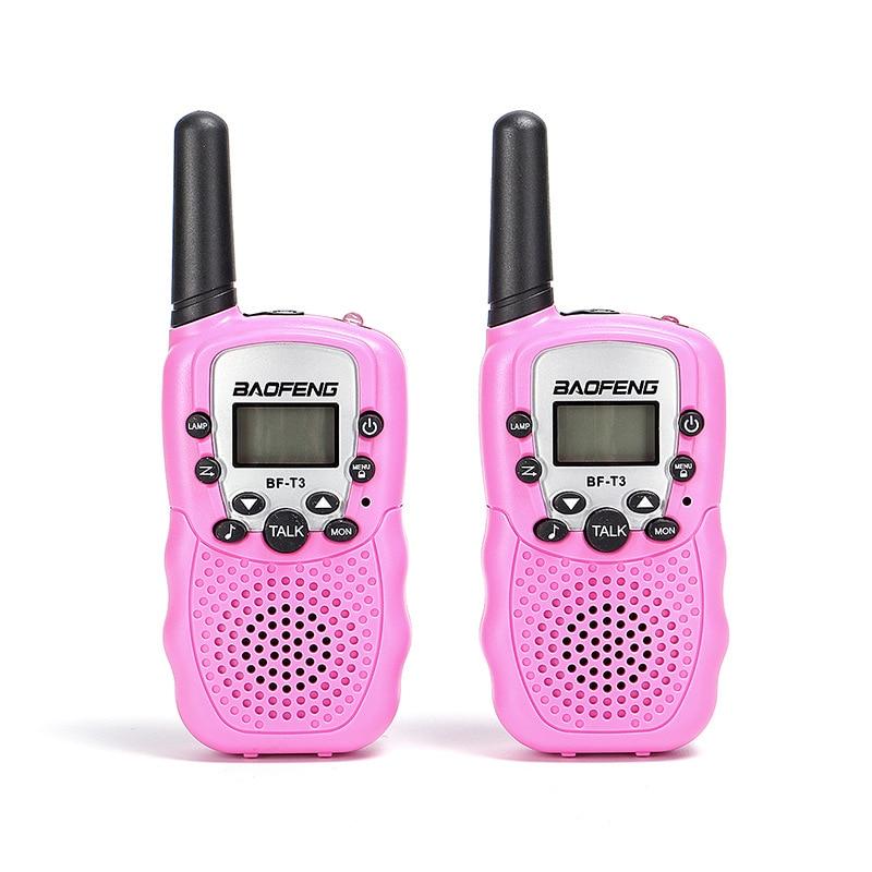 2 Pcs Kids Walkie Talkies Children Portable Intercom 2 Way Radio 3km Range 8 Channels Mini Handheld Interctive Toys For Kids