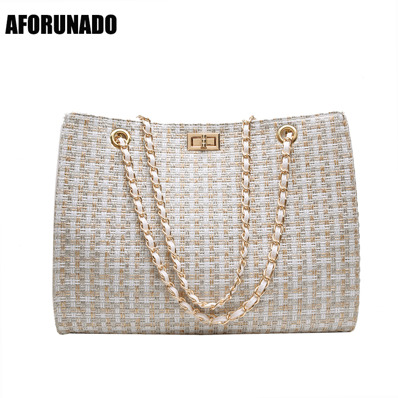 Luxury Handbags Women Bags Designer Canvas Knitting Shoulder Bags Fashion Ladies Channels HandBags Crossbody Bags For Women 2019