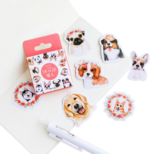 46pcs/pack lovely kawaii dog paper stickers DIY decoration scrapbook sticky label gifts for kids stationery papeleria