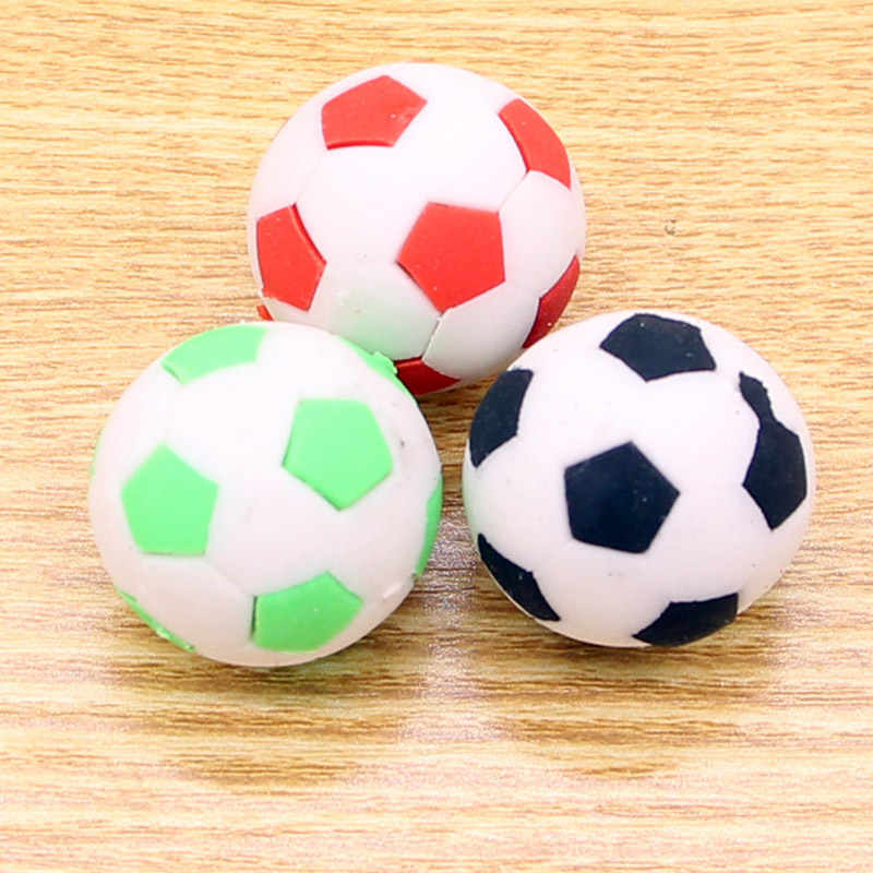 3 PCS Creative Cute World Cup Football Eraser Detachable Toy Eraser Gift Student Prizes Stationery Office&School Supplies