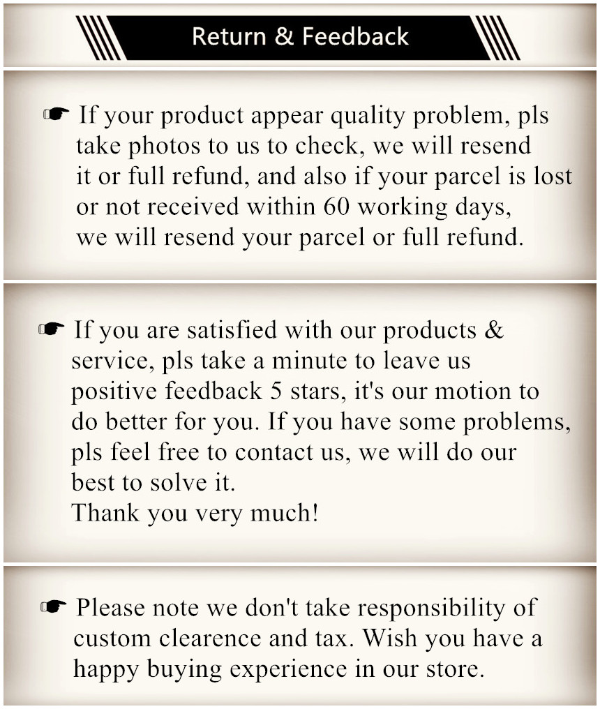 return & feedback