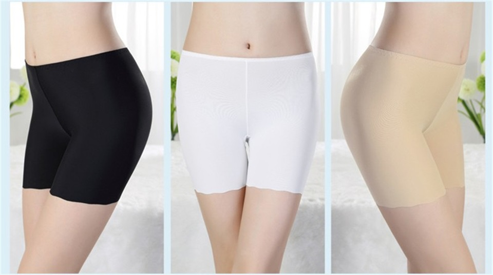 HTB1aXA.fFkoBKNjSZFEq6zrEVXan - Women Ice Silk Safety Pants Seamless Boy Shorts Boxer Female Modal Briefs Panties Ice Silk Safety Short Pants Underwear