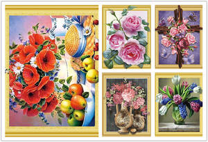 DIY 3D cubism Diamond painting Cross stitch Drill flowers Diamond embroidery Floral Full Round Diamond cubism with printed frame