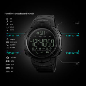 Image 3 - Sport Smart Watch Men SKMEI Brand Pedometer Remote Camera Calorie Bluetooth Smartwatch Reminder Digital Wristwatches Relojes