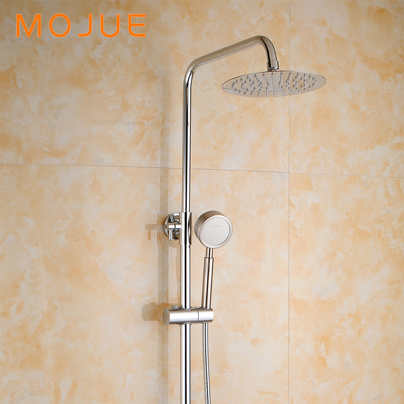 MOJUE Thermostatic Shower Set Bathroom Faucet Shower System Waterfall Faucet  Wall Mounted Bathtub Mixer Brass Faucets Set MJ8231